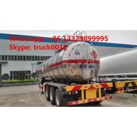Quality hot sale good quality 28mt 3 axles methyl chloride transport lpg semi-trailer, 35,000Lbulk lpg gas trailer for sale