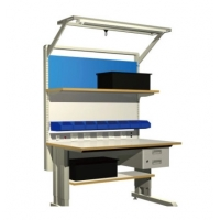Quality Grey Metal 10e6 Ohms Electronic Workstation ESD Workbench for sale