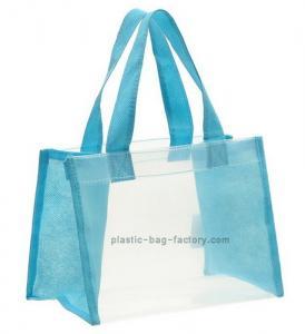 Buy cheap BPA-Free Clear PEVA Lady Tote Handbag Transparent Travel Beach Handbag from wholesalers