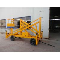 Quality 12m Trailer Mounted Hydraulic Boom Lift Yellow Explosion Proof For Insulating for sale