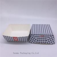Quality Disposable Square Cupcake Liners , Black And White Checkered Cupcake Wrappers for sale