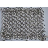 Quality High Precision Wire Mesh Scrubber / Cast Iron Chain Cleaner Polishing Surface for sale