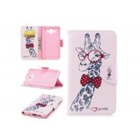 Quality Lovely Giraffe Card Pocket Phone Case , Cell Phone Wallet Case For Huawei for sale