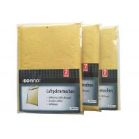 Shrink Bubble Wrap Shipping Envelopes , Light Brown Kraft Padded Mailers Recyclable