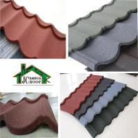 Quality Alu-Zinc plate Stone Chip Coated Metal Roof Tiles  Ripple Model 1340*420mm for sale