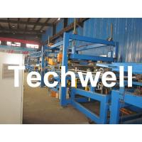 Quality 32KW, 50 - 250mm Rock Wool Insulated Sandwich Panel Line Machine For Prefabricated House for sale