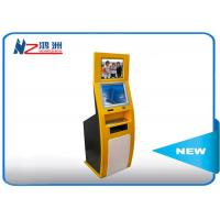 Buy cheap PC Built In Touch Screen Information Kiosk For Business Center , Yellow Blue from wholesalers