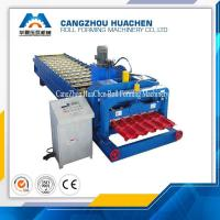 China PLC Control Glazed Tile Roll Forming Machine / Roof Tile Roll Forming Machine For Modern Villas on sale