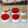 Buy cheap 50gr 100gr 150gr 200gr 250gr 300gr plastic square cosmetic jar in UV gold  lid from wholesalers