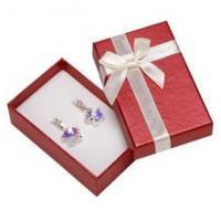 Quality Faux Velvet Insert Jewelry Gift Boxes , OEM / ODM Jewelry Box For Pierced Earrings for sale