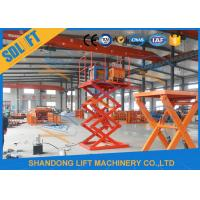 China 4000mm Lift Height Electric Scissor Lift Table , Hydraulic Scissor Lift For Cargo on sale