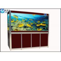 Quality Screen Porch Feng Shui Custom Fish Tanks Black / Red Aquarium Goldfish Bowl Ecological for sale