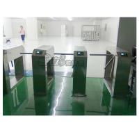 China Electric Stainless Steel Access Control Turnstiles , Revolving Tripod Barrier Gate on sale