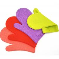 Quality Home BPA Free Heat Proof BBQ Gloves / Silicone Oven Gloves With Fingers for sale