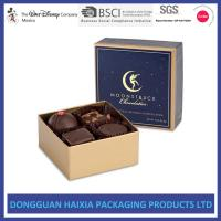 China Food Grade Cardboard Storage Boxes Glossy Varnishing Design For Chocolate on sale