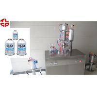Quality Semi Auto Aerosol Spray Filling Machine , Refrigerant Filling Equipment for sale