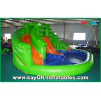 Quality Pvc Summer Inflatable Bouncer Slide Outside Frog Water Slide with Print for sale