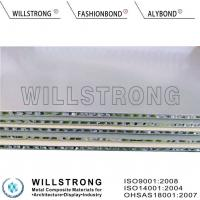 China 20MM Silver Honeycomb Composite Panels , Economical And Aesthetic Honeycomb Stone Panels on sale