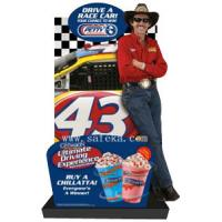 Quality Carton Cardboard Lifesize Human Cutout Display Standees,Carton Floor Display in Store for sale