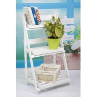 Quality 3 Tiers Wooden Outdoor Furniture Flower Pot Stand Foldable 2.9KG For Roomy Storage for sale