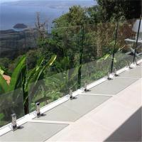 Quality Swimming Pool Tempered glass balustrades with stainless steel spigots for sale