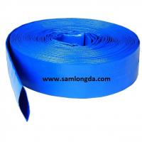 "Quality Agriculture PVC Layflat Hose for Irrigation & Water (3/4""-12""), with Camlock Coupling, blue colour for sale"