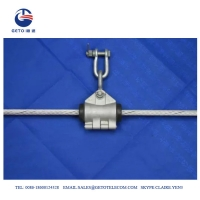 Quality Outdoor FTTH Helical ADSS Wire Steel Suspension Clamp for sale