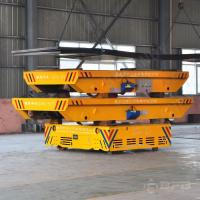 Quality 100T Maintainence Free Storage Battery Power Trackless Turning Transfer Carriage for sale
