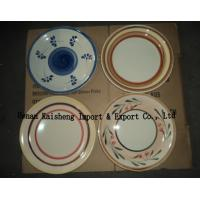 China 10.5 dinner plate, cheap handpainted crokery dinner plates, stock with different designs on sale