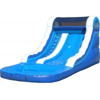 Customized Blue Kids Inflatable Water Slide Blow Up Pool Slides For Inground Pools For Sale