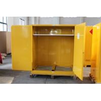 Quality 1.0mm galvanized Steel Horizontal Inflammable Flammable Storage Cabinet 2 Manual Close Doors Chemical Liquid for sale