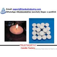 Buy paraffin wax candle making supplier factory price unscented tealight candles at wholesale prices