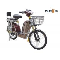 Quality 40km / H Pedal Electric Scooter Bicycle 350W-800W 48v-60v Battery for sale