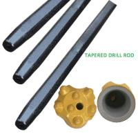 Quality Hex22mm / Hex25mm Rock Tapered Drill Rod , Blast Hole Drilling Tapered Rod for sale