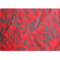 Quality Lightweight Red Jacquard Dress Fabric Apparel Fabric By The Yard for sale