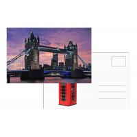 Quality Tourist Souvenir 3D Lenticular Postcard London Landscape 5x7 Inches for sale