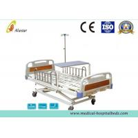 China 3 Position Hand Operated Medical Hospital Beds with Stainless Steel Guardrail (ALS-M319) on sale