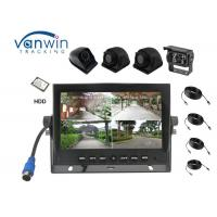 Quality 4 Channels AHD 720P 7 Inch TFT Quad Car Monitor DVR Support HDD Storage New Arrival for sale