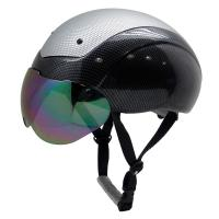 China Custom ASTM approved aero short track speed protection skating helmet with top PC cover AU-L002 on sale