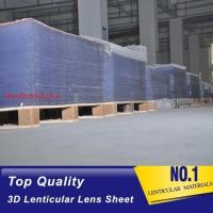 Quality 3D injekt print 75LPI 0.45mm Lenticular Lens Sheet material with good Lenticular Printing Effect for sale