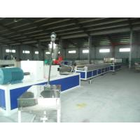 Quality Hollow and Solid Plastic Profile Extrusion Line , PP / PE Handrail Profile Production Line for sale