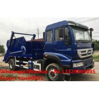 Quality SINO TRUK HOWO 4*2 RHD 266HP 10-12m3 container lifter rubbish truck for sale in Sri Lanka, wastes collecting vehicle for sale