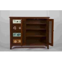 Buy 3 Adjustable Shelves Home Wood Furniture Cabinet With 4 Pattern Storage Drawers at wholesale prices