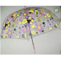 Quality Colorful Clear Canopy Bubble Dome Umbrella Plastic Hook Handle Stick Metal Frame for sale