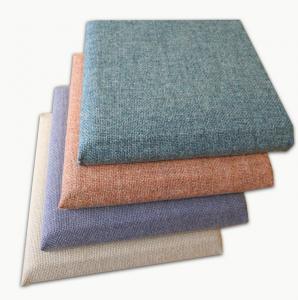 China Decorative Soft Covered Fabric Fiberglass Acoustic Wall Panels Square Edge on sale