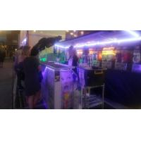 Quality Restaurant / Hotel Night Mobile Bar Counter Commercial Portable With Wheel for sale