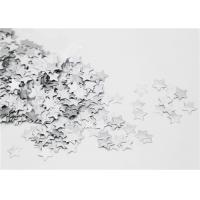 Quality Paper Gummed Stars Silver Decoration Single Side Collages FSC Standard for sale