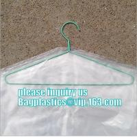 China commercial clear pe ldpe poly hotel laundry roll up suit garment packaging dry cleaning cover plastic polythene bag for on sale
