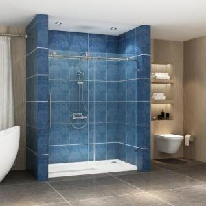 Quality Stainless steel frameless sliding shower glass door shower enclosure for sale