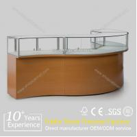 Quality Luxury modern wood body showroom glass jewelry display cabinet for sale